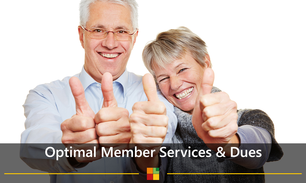 Optimal member services & dues