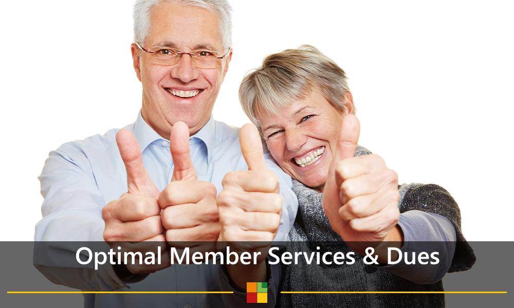 Optimal member services & dues